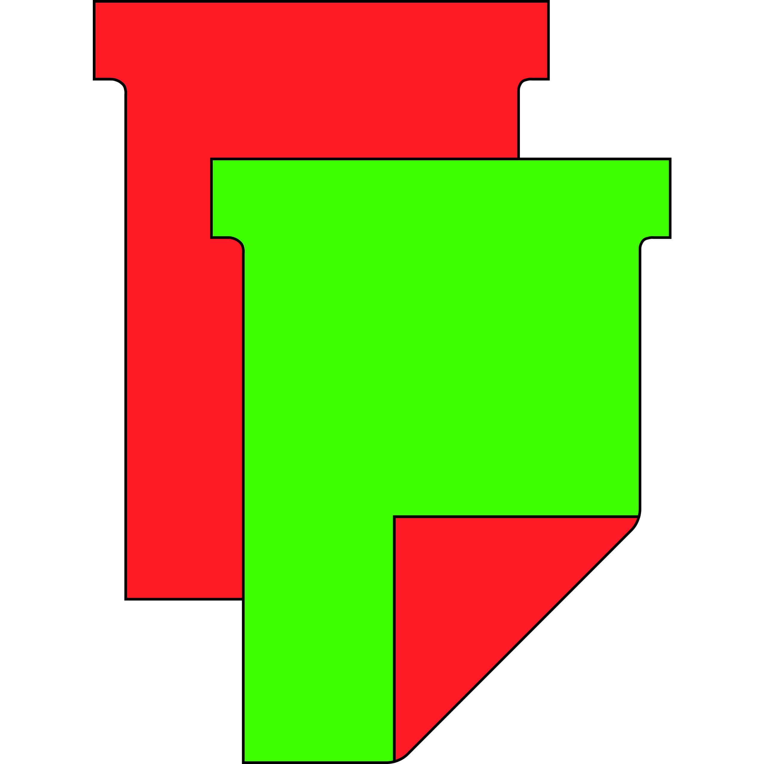 T-Karten-Kombi zur Beschriftung per Hand mit 2-fach Nutzen (rot/grün)